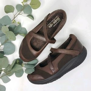 Skechers SHAPE-UPS Brown Leather Mary Jane Style 7